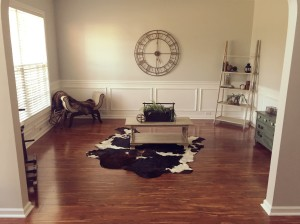 This is room is not complete yet, as we just recently moved in. {so basically, ignore everything EXCEPT for the rug}